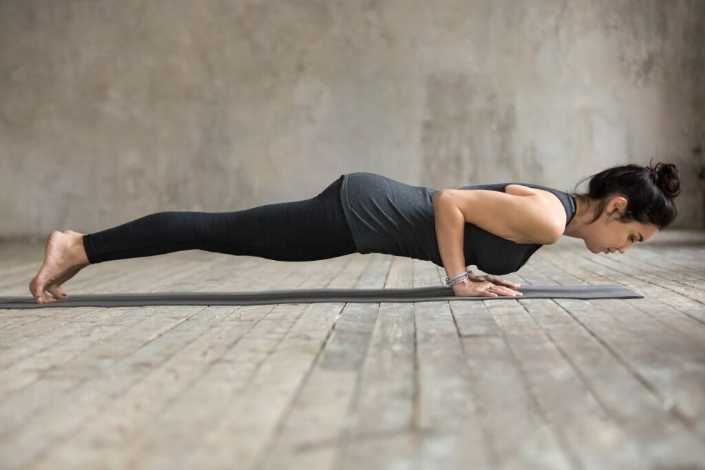 High Plank (CHATURANGA DAND asana)